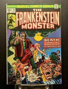 The Frankenstein Monster #10 Fine 1974 Marvel Comics