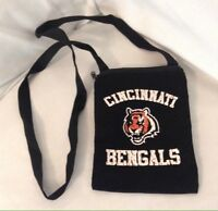Cincinnati Bengals ProFANity NFL Small Zip Top Shoulder Purse Bag