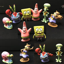 6Pcs/Set Spongebob Aquarium Ornament Cartoon Fish Tank Kids Decoration Squidward