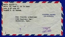 Panama Air Mail Cover to Bremerton WA June 1961