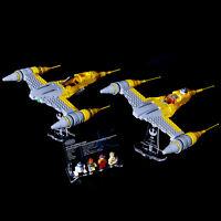 LEGO 75092 7877 Naboo Starfighter - Custom Display Stand & UCS Plaque