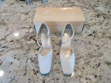 Womens Bridal Heels White Ivory Satin Ladies Heels Wedding Bride Shoe