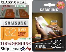 GENUINE SAMSUNG EVO 32GB Micro sd card Class10 TF REAL Flash Memory MicroSd SDHC