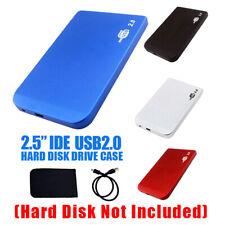 "USB2.0 To IDE HDD 2.5"" Hard Drive Disk Aluminum  External Case Enclosure Box"