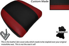 Negro Y Rojo Oscuro Personalizado Para Bmw K 1200 Lt 99-09 Respaldo Cuero Funda De Asiento