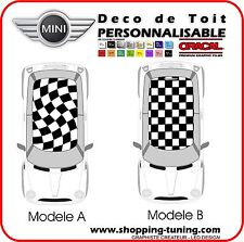STICKERS KIT DECO DE TOIT DAMIER (A ou B) MINI COOPER ONE JOHN COOPER AUSTIN
