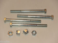 """Land Rover Series Bumper Nuts and Bolts 3/8 UNF x 4.25"""", NRC2384 & NY606041L OEM"""