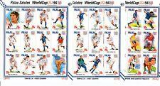 D. Fußball  Palau  804 - 39 Kleinbogen Satz  WM USA 1994  ** (mnh)