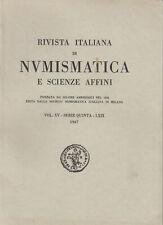 LANZ Rivista italiana di numismatica e scienze affini Vol.XV  1967 ~M3