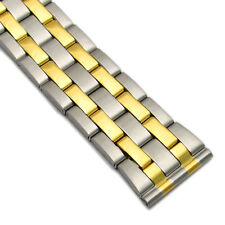 Stainless Steel Folding Deployment Watch Bracelet 20mm 22mm Choice of Colour