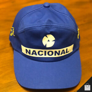 Ayrton Senna Cap Official Nacional Formula 1 F1 Adult Size Blue Hat Race Replica