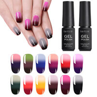 LILYCUTE 7ml 3 Layers Thermal Gel Nail Polish Pink Green Soak Off UV Gel Varnish