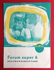 RFT Bedienungsanleitung VEB RAFENA WERKE RADEBERG 1963 DDR Fernseher  ( F15724