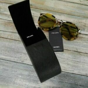 PRADA SPR01T Sunglasses Turquoise 7S04K2 light havana fashion round glasses