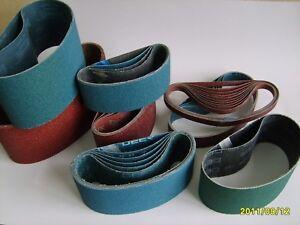 3 x 50mm x 915mm Ceramic Abrasive Belt Various Grit Options- P80
