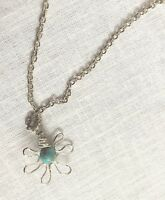 Handmade Sterling Silver & Turquoise Pendant Necklace