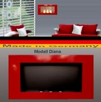 Fireplace Fire place Bio-Ethanol Ethanol GEL Modell DIANA Red Chimney Heater