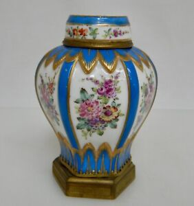 Antique Small French Sevres Porcelain Jar - 82564