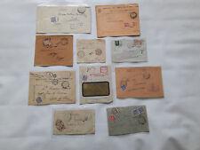 STORIA POSTALE 1913/43 REGNO LOTTO 10 LETTERE TASSATE Z/2235