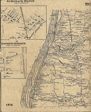 Schodack Castleton on Hudson Berlin NY 1876 Maps with Homeowners Names Shown