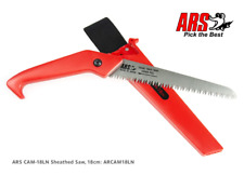 ARS Garden Pruning Saw CAM 18LN TURBO CUT 180mm With Plastic Cover & Belt Clip