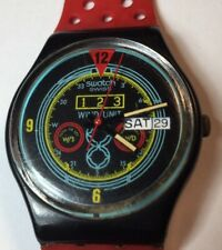 1987 Swatch Watch GB707 Vintage Navigator No Dots Great Condition