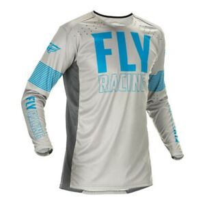 Fly Racing Motocross Jersey 2021 Lite Blue Grey Large On Sale Last One