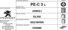 PE-C3L KIT 4 FILTRI TAGLIANDO PEUGEOT BOXER II 2.2 HDI 74 KW 100 CV FINO AL 2004