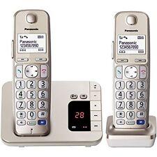 Panasonic KX-TGE222GN Champagner Telekom Festnetz-Telefon schnurlos