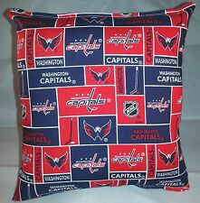 Capitals NHL Pillow Washington Capitals Pillow Handmade In USA