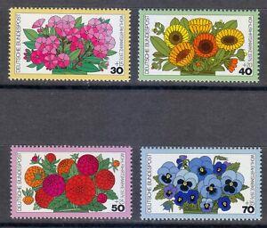 Germany 1976 MNH Mi 904-907 Sc B533-B536 Flowers.Phlox.Dahlias.Marigolds.Pansies