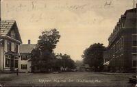 Dixfield ME Upper Maine St. c1910 Postcard