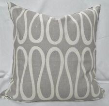 KRAVET- Jonathan Adler - Gray Decorative Throw Pillow Cover /2 20x20 /100% Linen