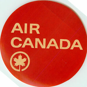 AIR CANADA - Old and Classic Airline Luggage Label / Decal, circa 1955