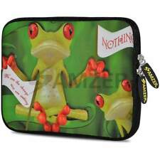 """Amzer 10.5"""" Neoprene Sleeve Case Cover Pouch For Tablet Netbook - Frog Wave"""