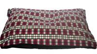 CosiPet® XL Waterproof Rhomboid Memory Foam Chips Cushion Dog Bed Red Plaid