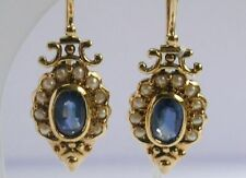 Hook Natural Sapphire Fine Earrings