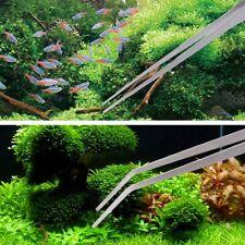 New listing 50cm Aquarium Long Tongs Fish Tank Tweezers Plants Clamp Feeder Clips Us