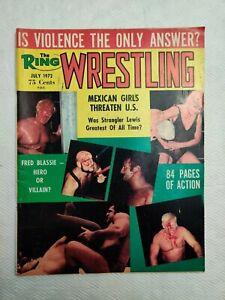 The Ring Wrestling Magazine July 1972 Vintage WWWF NWA AWA