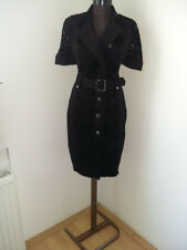 Karen Millen vestito nero da donna women black trench lace belted dress M