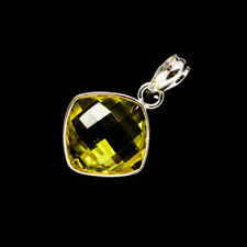 "Lemon Quartz 925 Sterling Silver Pendant 1"" Ana Co Jewelry P735413F"
