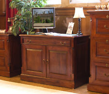 La Roque Premium Solid Mahogany Dark Wood Hideaway Home Office Desk