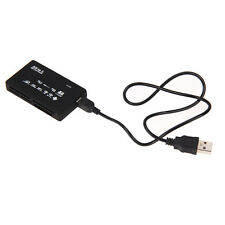 Black All in One USB Memory Card Reader SD SDHC Mini Micro M2 MMC XD CF MS