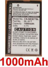 Batería 1000mAh tipo BL-5CT Para Nokia C5-00