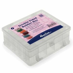 Hemline Bobbin Box - Plastic Double Sided