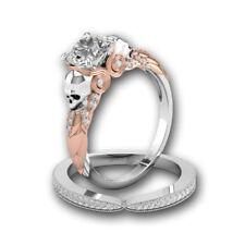 2.65ct Skull Designer White Round Cut Diamond 925 Silver Engagement Bridal Rings