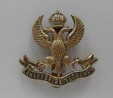 BRITISH ARMY CAP BADGE THE LANARKSHIRE  YEOMANRY.