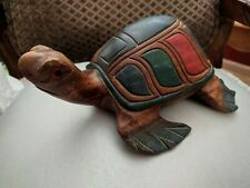 Wooden Hand Carved Turtle