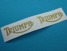 Triumph GB Schriftzug Aufkleber Tank Abziehbild  22mm x 59mm klein Gold  2 Stück