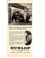 1958 JAGUAR XK150 ~ ORIGINAL DUNLOP TIRE AD